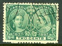 Canada 1897 Jubilee 2¢ Green Scott #52  VFU  P13