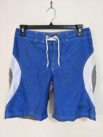 Reef Break Men's Board Shorts Size 34 Blue Grey White Swim