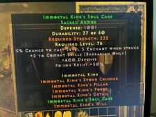 Diablo 2 Resurrected D2R Softcore PC - Immortal Kings IK Armor