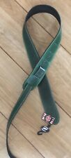 Leather Craft Celtic Embossed Green Guitar Strap