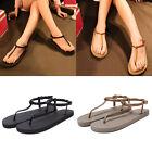 Womens Girls Summer Bohemia Slippers Flip Flops Flat Sandals Beach Thong Shoes