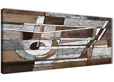 Marrone Beige Bianco dipinto salotto a Muro Art-Astratto 1407 - 120cm