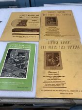 Cincinnati Service Manyal And Parts Catalogs
