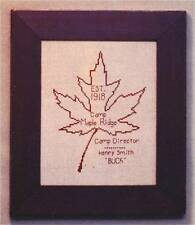 Bent Creek CAMP MAPLE RIDGE Cross Stitch Chart ~ maple leaf/sampler/reproduction