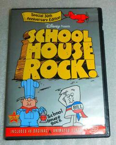 Disney School House Rock DVD 30th Anniversary Edition Original 46 Animated Songs