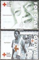 Dänemark-Färöer 391-392 (kompl.Ausg.) postfrisch 2001 Färöisches Rotes Kreuz