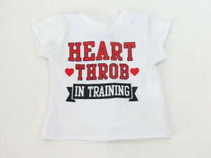 """Heart Throb in Training T-Shirt  For 18"""" American Girl Boy Doll Accessories"""