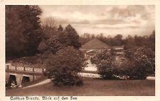AK Cottbus - Branitz Blick auf See Postkarte