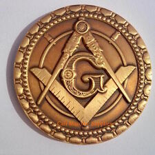"""Freemasons  Commemorative  Two Sided  Thick coin 1.75"""" For Blue Lodge Mason gift"""