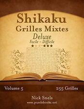 Shikaku: Shikaku Grilles Mixtes Deluxe - Facile à Difficile - Volume 5 - 255...