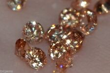 Flawless 3mm IF Brilliant Cut Russian Simulated Champagne Diamonds