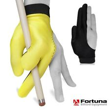 Fortuna Billiard Pool Cue Glove - for Left Hand - Yellow and Black