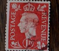 Nice Vintage Used Postage Revenue 1 D Stamp, GOOD COND - 1940's