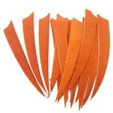 Archery Fletches 5inch Shield Cut Orange Feather Fletching RW - 50PCS