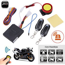 Motorcycle Bike 12V Security Alarm System Anti-theft Remote Control Engine Start