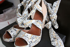 Canvas & Leather Summer Beach Wedges Sandals By Maloles Anthropologie, Size 40.5