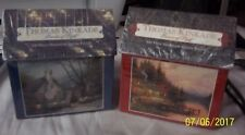 Lot of 2 THOMAS KINKADE Painter Of Light 100 pcs Puzzle Cottages 1515-1 1515-2