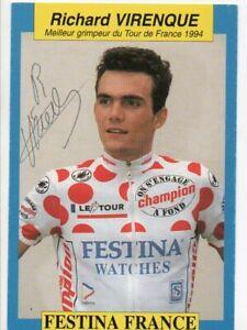 TOUR DE FRANCE CYCLISME autographe  de  RICHARD VIRENQUE