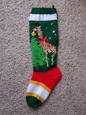 Nancy's Hand Knit Personalized Christmas Stocking Sock - GIRAFFE