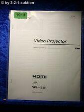 Sony Bedienungsanleitung VPL HS20 Video Projector (#1913)