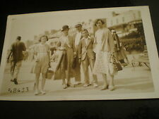 Old postcard people walking Margate c1930s