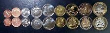 Malawi 9 Pcs Coins SET, 1 2 5 10 20 50 Tambala 1 5 10 Kwacha, 1995 to 2006, UNC
