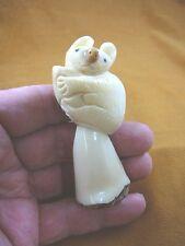 (Tne-Bea-Ko-115A) little Koala Bear Tagua Nut Figurine Carving Vegetable palm