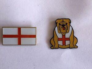 Pair Of St George Pin Badges