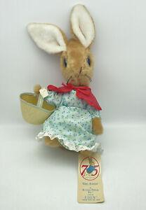 VTG 15 Inch Eden Beatrix Potter Mrs Rabbit Plush Stuffed Animal 75 Anniversary
