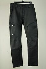 INSANE RARE $1800 HELMUT LANG BLACK LEATHER MOTO PANTS LAMBSKIN SLIM SIZE 34 EUC