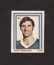 Garry Monahan #202 Toronto Maple Leaf 1972-73 Eddie Sargent Hockey Sticker Stamp