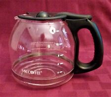 Mr Coffee Glass 12-Cup Carafe with Black Lid