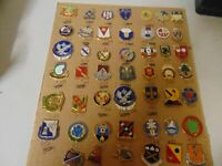 HUGE LOT OF MILITARY INSIGNIA CRESTS DUIS DI'S APPROX 48