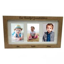 "Grandchildren Personalised Triple picture photo frame 6""x4"" B48-3"