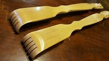 "2 pc Back scratcher 18"" long  natural bamboo NEW"