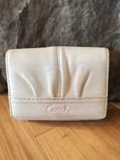 Coach Ashley White Leather Signature Bifold Wallet