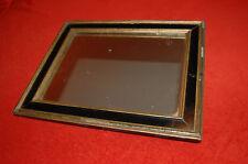 Cadre, miroir  ancien contemporain en bois noir et doré