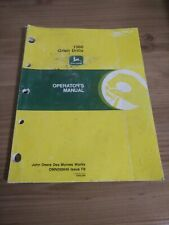 John Deere 1560 No Till Seed Drill Planter Operators Manual Issue F8