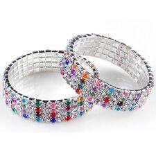 Damen Mode Charm Kristall Armband Infinity Kette Strass Armreif Armband Schmuck