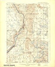 1901(1945) St Croix Dalles, Wisconsin-Minnesota USGS Topographic Map