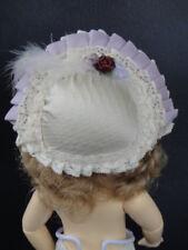 Hat Doll Size Bleuette - Tour Head 17/19 cm - Doll Hat (B188 Violine)