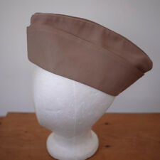 Vintage US Army Military Wool Blend Garrison Hat Field Mens Cap Khaki Beige 7