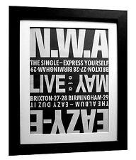 NWA+EAZY-E+Express Yourself+POSTER+AD+RARE ORIGINAL 1990+FRAMED+FAST GLOBAL SHIP