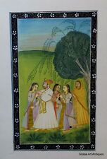 Rare Hand Painted Fine Decorative Collectible Indian Miniature Painting. G77-22