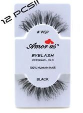 #WSP 12 Pairs Amor US False Eyelashes-Handmade, Human Hair Compare to Red Cherry