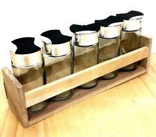 Gewürzregal Gewürzstreuer Kräuterregal mit 5 Salz- und Pfefferstreuer aus Glas