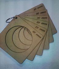 6 plantillas para termoformar cabezas de fofuchas 80MM-70MM-60MM-50MM-40MM-30MM