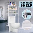 3 Shelf Over The Toilet Bathroom Space Saver Metal Towel Storage Rack Waterproof