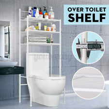 3 Shelf Over The Toilet Bathroom Space Saver Metal Towel Storage Rack