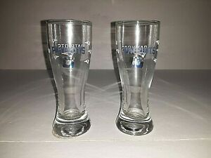 """New England Patriots Clear Tall 4""""  Shot Glass ( set of two )"""